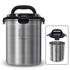 메탈락 스텐 음식물쓰레기통 3L