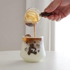 러브베어 내열 유리컵