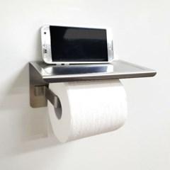 신개념 무타공 접착식 욕실 선반형 휴지걸이 GJ-R1410A
