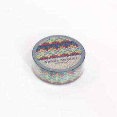 Nordic Sweater Masking Tape [Ethnic Blue]