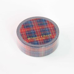 Winter Check Masking Tape [Royal Navy]