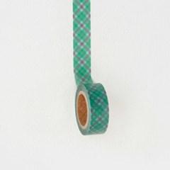 Diagonal Check Masking Tape [Evergreen]