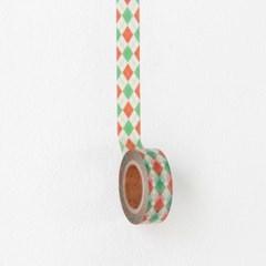 Argyle Check Masking Tape [Merry Christmas]