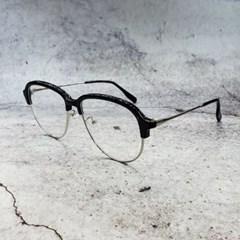 무테 반뿔테 블랙 가벼운 도수없는 데일리 패션 안경