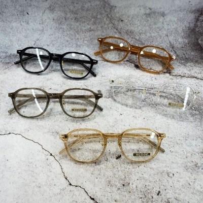 뿔테 가벼운 도수없는 블랙 카키 데일리 패션 안경