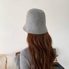 울 그레이 버킷햇 꾸안꾸 데일리 패션 벙거지 모자