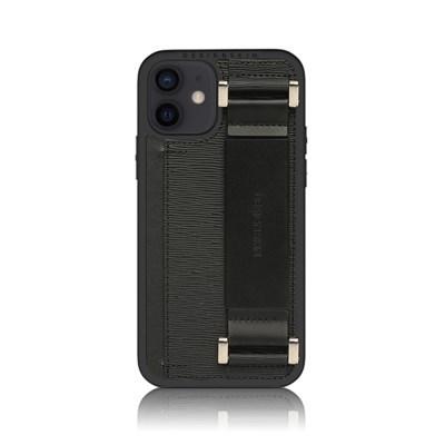 아이폰12미니 밴딩 레더 스트랩 케이스_블랙_(1297341)