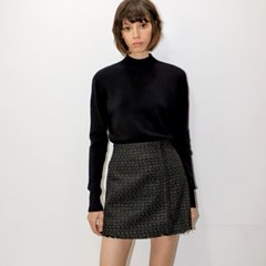트위드 블랙 미니 치마바지 _ Tweed Black Mini Skirt_Pants