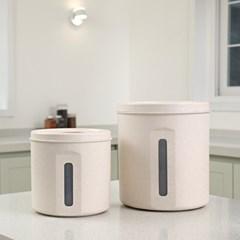 에코 밀폐 원형 쌀통 2종세트(5kg+10kg)_(1074248)