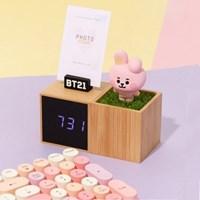 BT21 LED 디지털 캐릭터 피규어 탁상 시계 인테리어 소품