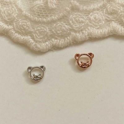 [봄밤달] 곰돌이 피어싱 (귀걸이침 변경가능)