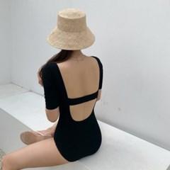 미뇽 심플 섹시 바디 슈트 여자 수영복
