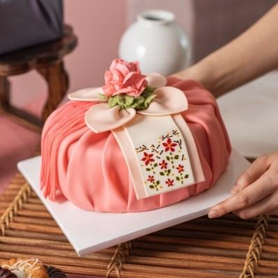 수원) 앙금보자기 떡 케이크 (택배불가,픽업가능)