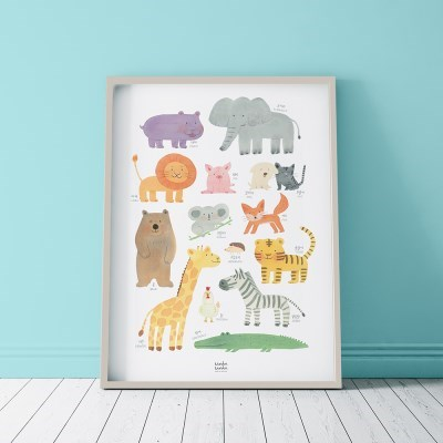 ANIMALS 동물 방수 포스터 A3
