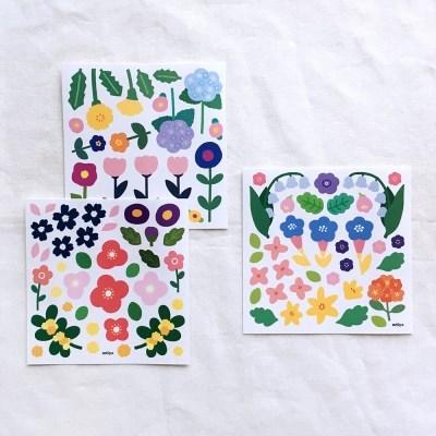 [비칼선] 꽃송이 스티커 세트