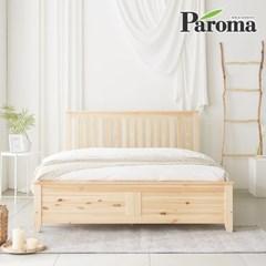 파로마 로메오 소나무 원목 침대 퀸Q 인디파워독립매트포함