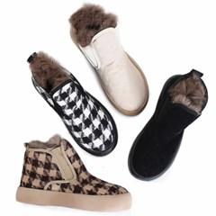 kami et muse Rabbit fur high top sneakers_KM20w287
