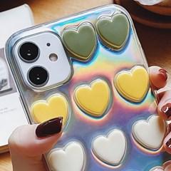 아이폰8 하트 쿠션 홀로그램 커버 젤리 케이스 P570_(3476865)