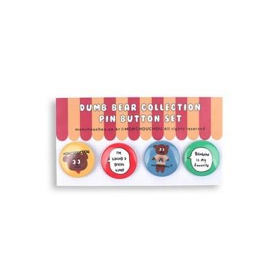 [monchouchou] Dumb Bear Edition Pin-Button Set