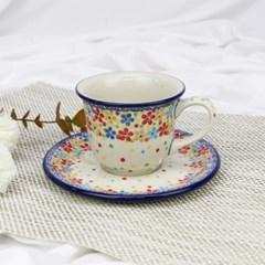 폴란드그릇 아티스티나 커피잔소서세트180ml 패턴2321