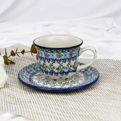 폴란드그릇 아티스티나 커피잔소서세트180ml 패턴2250