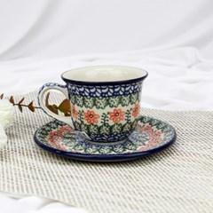 폴란드그릇 아티스티나 커피잔소서세트180ml 패턴1233