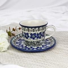 폴란드그릇 아티스티나 커피잔소서세트180ml 패턴1073