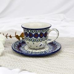 폴란드그릇 아티스티나 커피잔소서세트180ml 패턴497