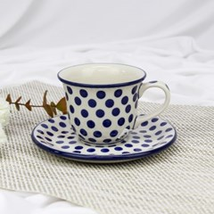 폴란드그릇 아티스티나 커피잔소서세트180ml 패턴61