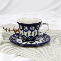 폴란드그릇 아티스티나 커피잔소서세트180ml 패턴54