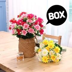 BOX판매 쏠데이지 12개 성묘 산소 꽃 납골당 조화_(2276438)