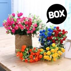 BOX판매 케이라로즈 15개 성묘 산소 꽃 납골당 조화_(2276433)