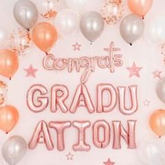 졸업 축하 파티장식세트 [콩그레이츠 그래듀에이션 로즈_(12181456)