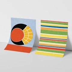 레트로 패턴 일러스트 인테리어 A2 포스터