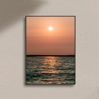 풍경 바다 물결 노을 감성 사진 포스터 거실 카페 인테리어액자