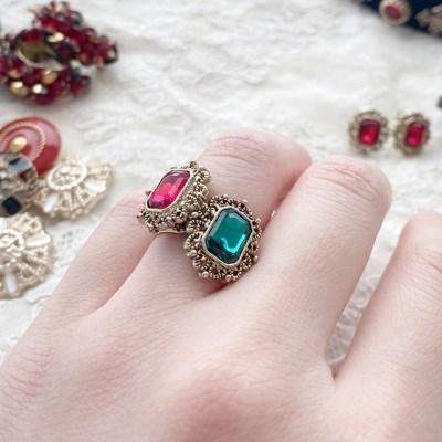 [드앙땅] 엔틱 보석 반지(2color) /빈티지 반지 / 커스텀주얼리 반지