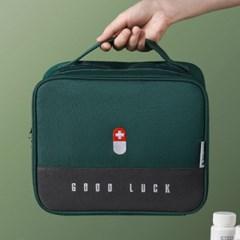 정리 수납이 편리한 대용량 패브릭 구급가방 구급함