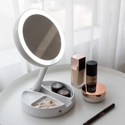 LED 폴딩 수납거울