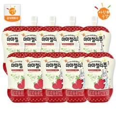 [아람농장] 국내산 유아음료 마마젤리쭈 딸기맛 10팩(10