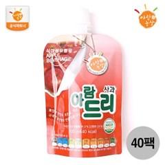 [아람농장] 국내산 생과일주스 아람드리 사과맛 40팩(10