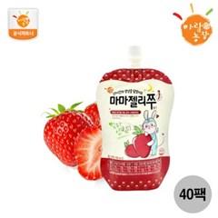 [아람농장] 국내산 유아음료 마마젤리쭈 딸기맛 40팩(10