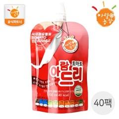 [아람농장] 국내산 생과일주스 아람드리 토마토맛 40팩(