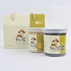 황금눈쌀 알뜰잡곡2종 선물세트 3호 은은한달 400gx2개 (찰흑미