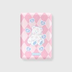 Soft bear-pink(무선충전보조배터리)_(1725180)