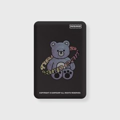 Twinkle gem bear-black(무선충전보조배터리)_(1725161)