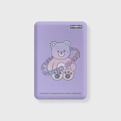 Twinkle gem bear-purple(무선충전보조배터리)_(1725160)