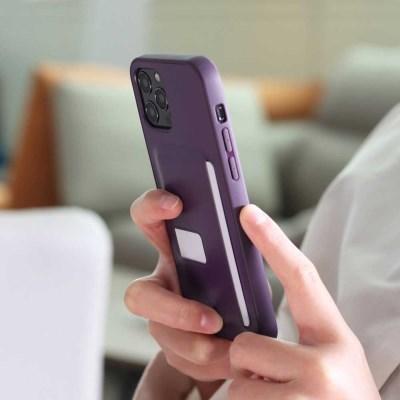 아이폰12 시리즈 가죽 케이스 다크블루