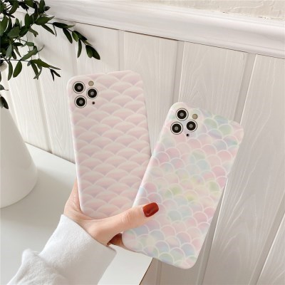 아이폰12 카메라보호 실리콘 풀커버 케이스 핑크 머메이드