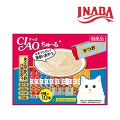 이나바 챠오츄르 참치+가다랑어 버리이어티 40개입 SC-132
