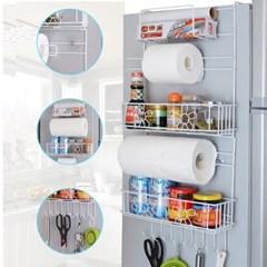 OMT 흡착식 냉장고 사이드 철재 수납선반 랙 각종 주방